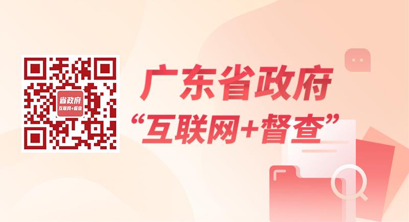"""广东省政府""""互联网+督查""""平台"""